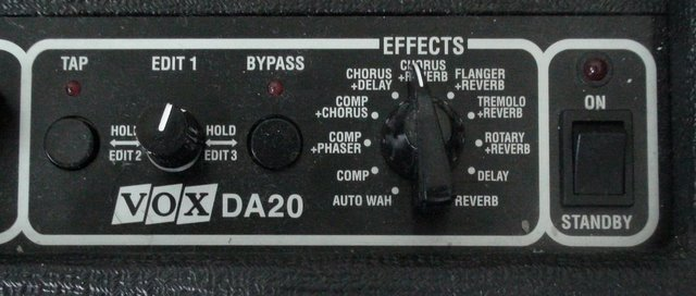the effects section